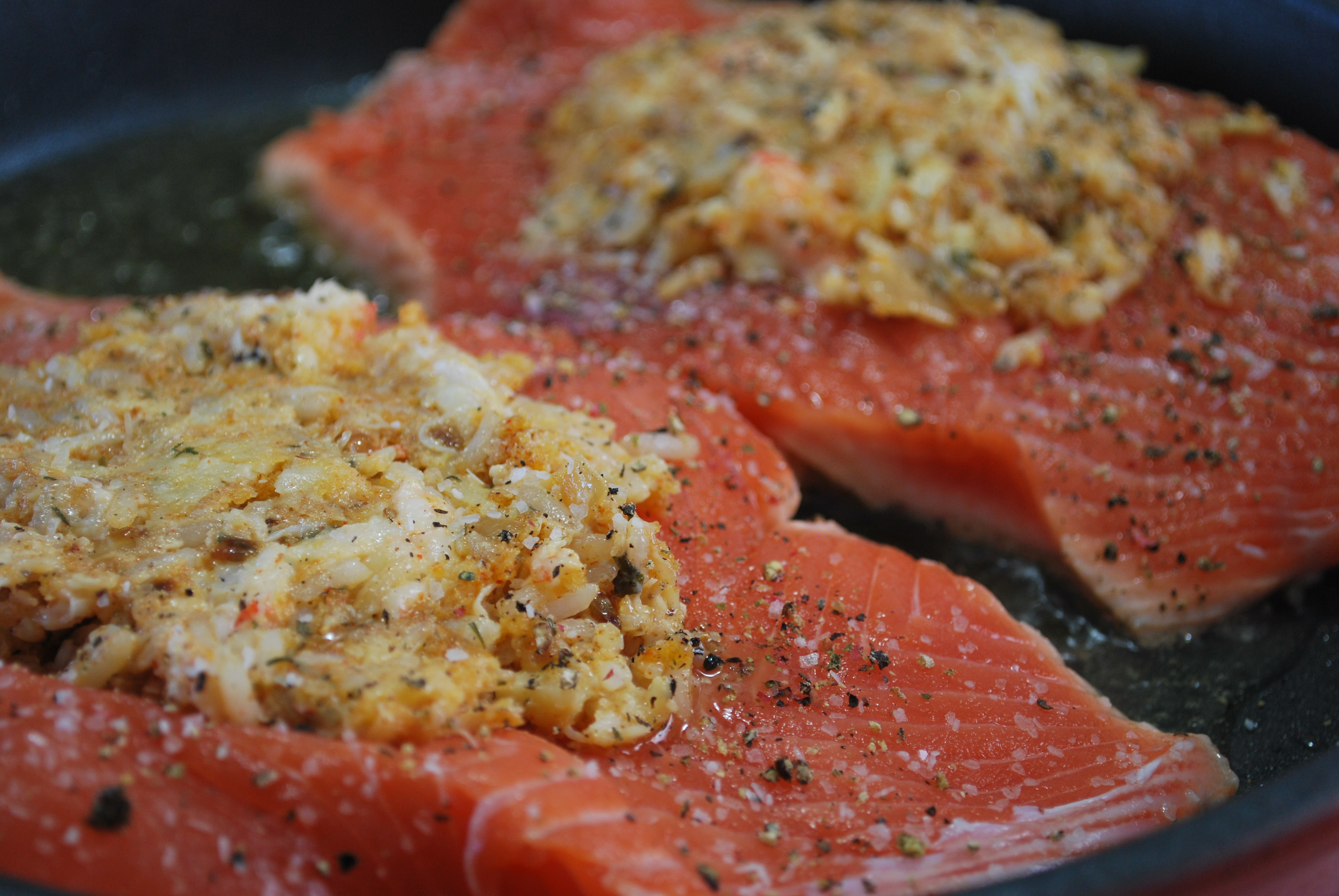 Salmon stuffed seafood recipes